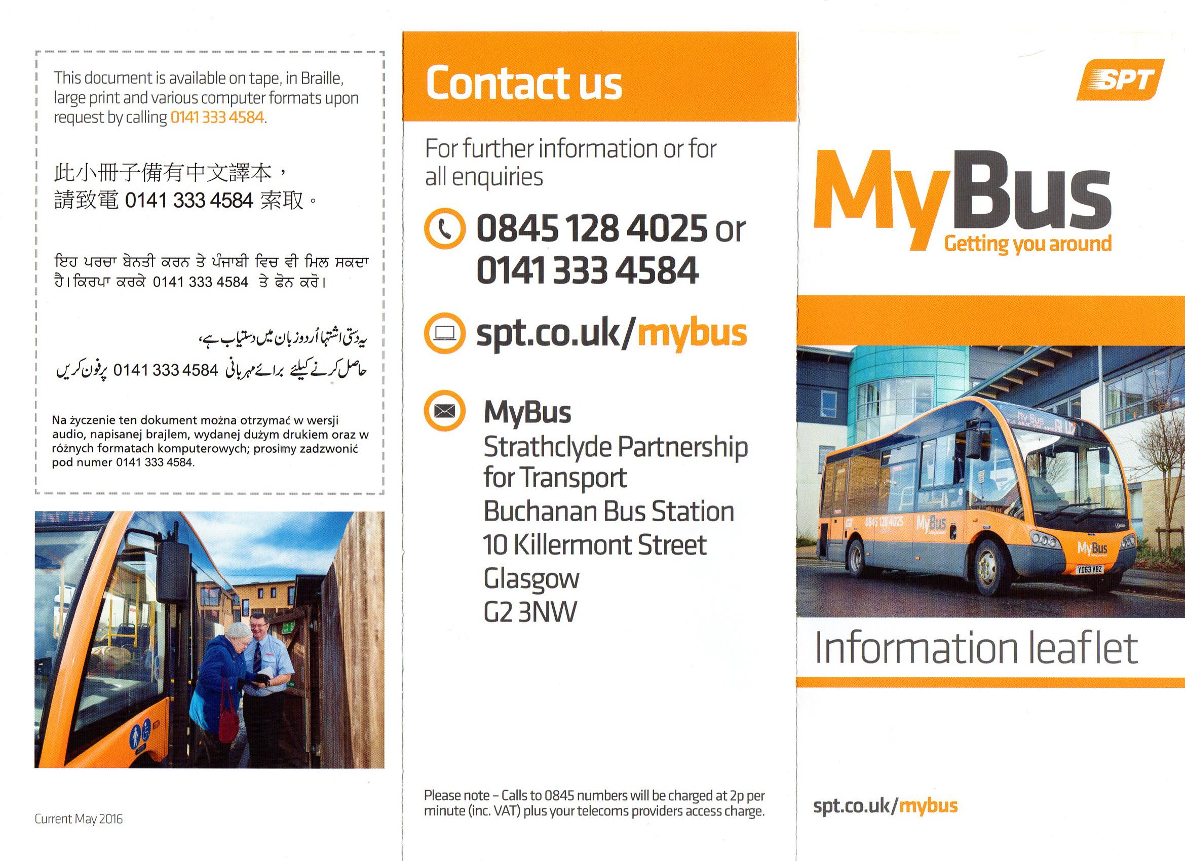 My bus door to door bookable transport carmunnock for Door to door transport